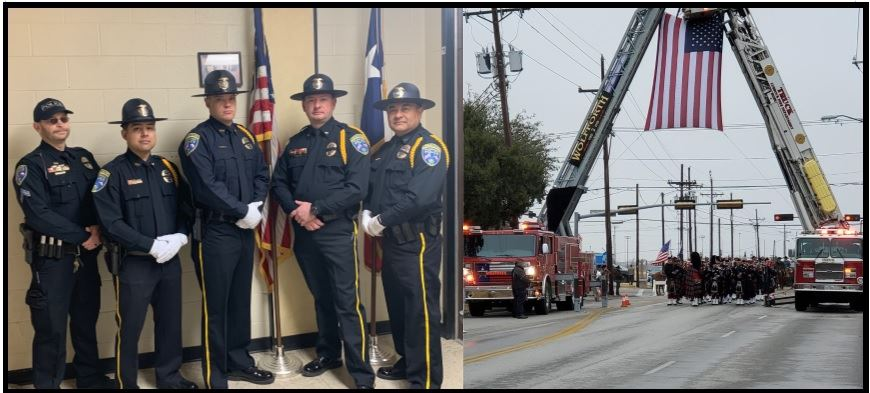 Police Honor Guard and Fire Ceremony