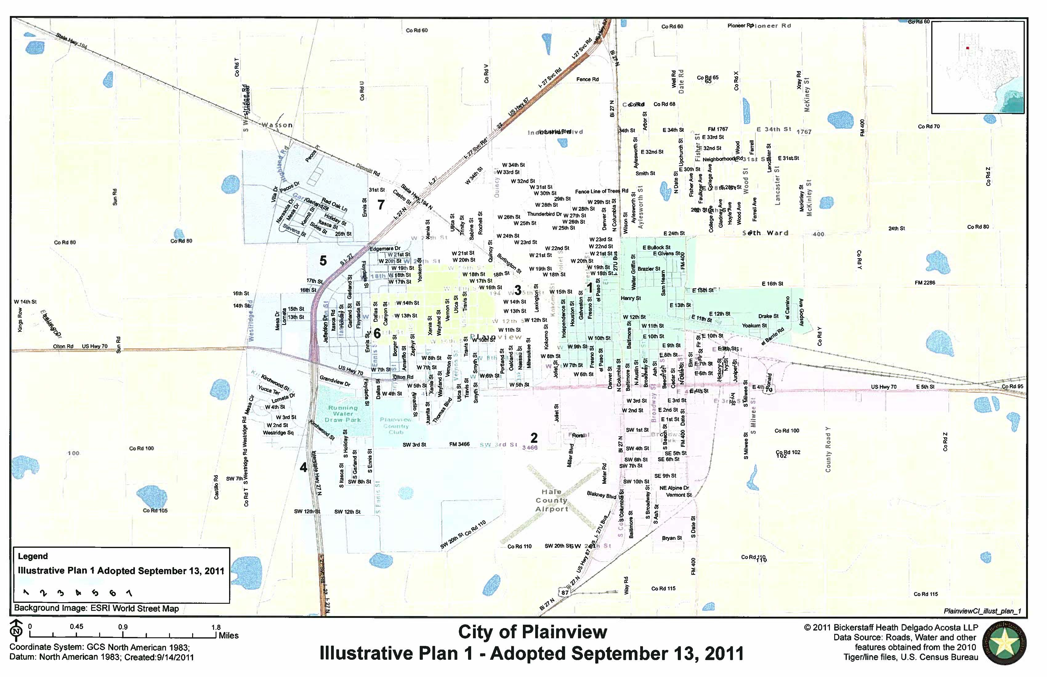 Map Of Plainview Texas